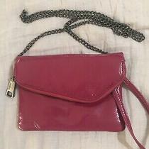 Hobo International Crossbody Shoulder Wristlet Bag Dark Pink Shiny  Photo
