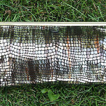 Hobo International Deanna Mosaic Patent Leather Clutch Purse Nwt Free Shipping Photo