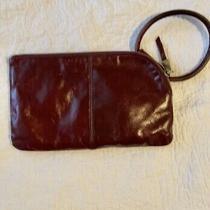 Hobo International Deep Wine Color Leather Wristlet Clutch Wallet Photo