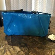 Hobo International Della Wallet/clutch Zip Around Turquoise Patent Leather Photo