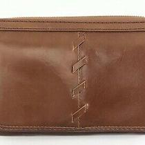 Hobo International Elm Woodlands Leather Zip Around Clutch Wallet R98 Photo