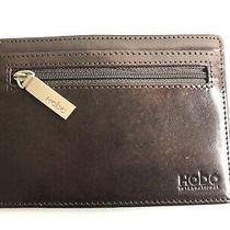 Hobo International Euro Slide Leather Card Wallet   Brown New Photo