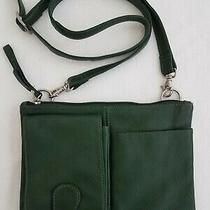 Hobo International Forest Green Pebble Leather Small Crossbody Bag Clutch Purse Photo