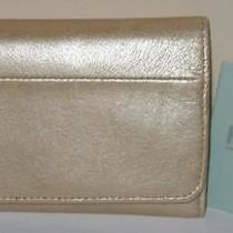 Hobo International Jill Metallic Blush Leather Clutch/wallet  Nwt 68 Photo