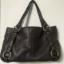 Hobo International Large Brown Leather Tote Shoulder Hobo Shopper Purse Bag Photo