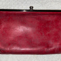 Hobo International Lauren Distressed Red Leather Double Clutch Wallet Photo