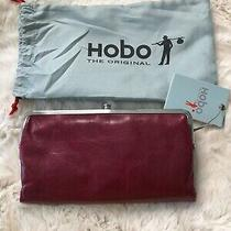 Hobo Internationallaurenleather Clutch Double Frame Walletred Plumnwt Photo