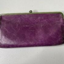 Hobo International Lauren Purple Leather Clutch Wallet Photo