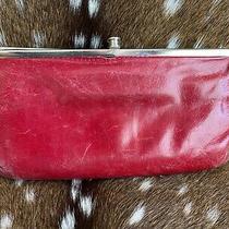 Hobo International Lauren Red Framed Leather Clutch Wallet. Photo