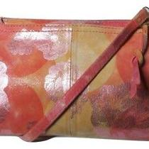 Hobo International Leather Darcy Sunrise Floral Pink Crossbody Clutch Purse Photo