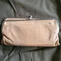 Hobo International Leather Double Kisslock Frame Clutch Wallet Camel Tan Photo