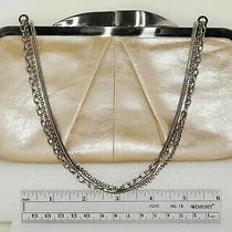 Hobo International Metallic Pearl Leather Evening Bag Clutch 3 Chain Strap  Photo