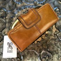 Hobo Internationalnova Vintage Leather Wristlet Clutch Walletearth Camelnwt Photo