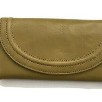 Hobo International - Olive Green Leather Clutch Wallet - Flap Close - Coin Cc Photo