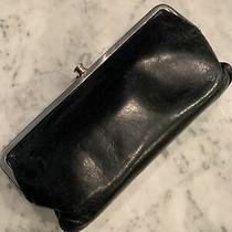 Hobo International Original Lauren Black Leather Wallet Bifold Clutch Kisslock Photo