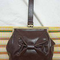Hobo International Purse Handheld Wrist Strap Brown Leather  Free Shipping  Photo