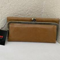 Hobo International Rachel Honey Light Brown Leather Wallet Clutch Purse Photo