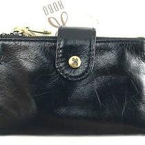 Hobo International Ray Black Leather Bifold Wallet R98 Photo