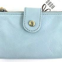 Hobo International Ray Whisper Blue Leather Bifold Wallet R98  Photo