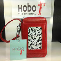 Hobo International Rea - Red Leather Wristlet Wallet Phone Case -
