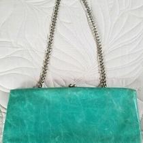 Hobo International Small Leather Clutch Kisslock Shoulder Bag Turquoise Euc Photo