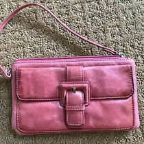 Hobo International Small Pink Leather Wristlet Bag Wallet Adorable Photo