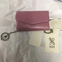 Hobo International Small Wallet Genuine Leather Pink Id Slot Credit Card Photo