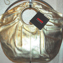 Hobo International Vanity Gold Handbag Nwt  Photo