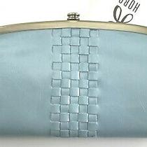 Hobo International Weave Whisper Blue Leather Clutch Wallet R118 Photo
