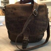 Hobo International Wmn Lrge Brown Distressed Leather Convertable Crossbody Purse Photo