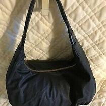 Hobo International Women's Black Nylon Hobo Handbag Purse Euc Photo