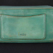 Hobo International Women's Green & Yellow Genuine Leather Zip Around Wallet Photo