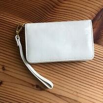 Hobo International Wristlet Wallet Patent Leather (Cream)  Photo