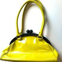 Hobo International Yellow Patent Leather Medium Tote Hobo Shoulder Bag Purse Photo