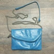 Hobo International Zara Crossbody Purse Clutch Wristlet Wallet Blue Photo