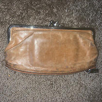 Hobo intl.leather Clutch Wallet Double Kiss-Lock & Zipper Bottom Navy Photo