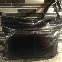 Hobo Leather Crossbody Black Handbag Shoulder Bag Crossbody Bag Medium Photo