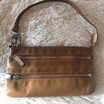 Hobo Leather Zipper Brown  Small Crossbody/wristlet. Photo
