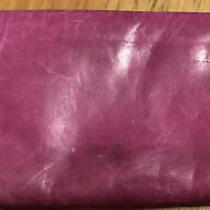 Hobo Original Eliza Zip Around Vintage Leather Wallet Organizer Pink Photo