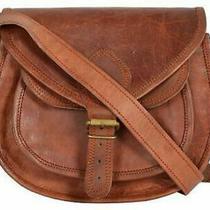Hobo Purse Women Vintage Brown Leather Messenger Cross Body Bag Handmade Photo