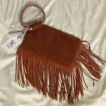 Hobo Sable Leather Fringe Clutch Brown Brand New Photo