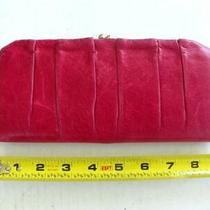 Hobo the Original Clasps Clutch Wallet Fuchsia Hot Pink Leather Vgc Photo