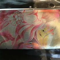 Hobo the Original Kisslock Wallet Clutch Multicolored Print Photo