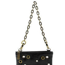 Hobo Womens Detachable Strap Clutch Wristlet Black Studded Size Small Photo