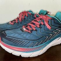Hoka One One Clifton 4 Teal Pink Womens Running Shoes Size 9.5 M Excellent Photo