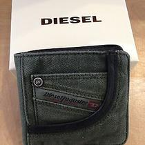 Holiday Sale Diesel Green Denim Wallet X01942 Photo