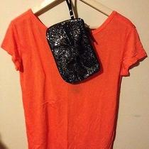 Hollister Abalone Cove T-Shirt Orange Small W/bonus Make Up Bag Photo