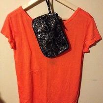Hollister Abalone Cove T-Shirt Orange Small W/bonus Make Up Bag Photo