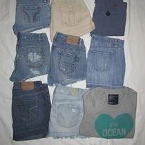 Hollister American Eagle Aeropostale Old Navy Shorts & Mini Skirts Lot Size 4/5 Photo