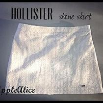 Hollister by Abercrombie Cream Shine Lace Lined Skirt S Nwt Photo